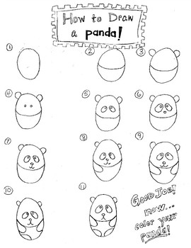 How to Draw a Panda & Bamboo (Free)