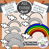 How to Draw a RAINBOW CLOUD St. Patrick's Day Clip Art- Directed Drawing
