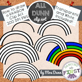 How to Draw a RAINBOW St. Patrick's Day Clip Art- Directed Drawing