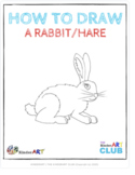 How to Draw a Rabbit/Hare (Step by Step Guided Drawing Ins