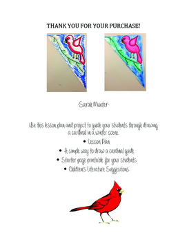 How to Draw a Red Winter Cardinal Lesson Plan Primary or E