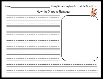 How to Draw a Reindeer: No Prep Sequencing Activity