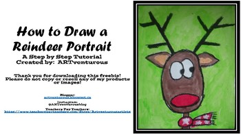 How to Draw a Reindeer Portrait - Step by Step