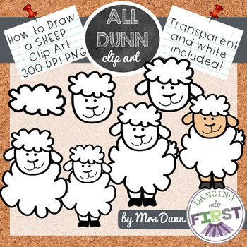 How to Draw a SHEEP Clip Art- Directed Drawing