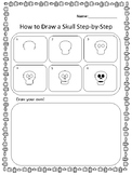 How to Draw a Skull Step-by-step English and Spanish