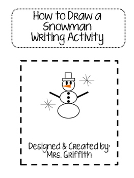 How to Draw a Snowman Art & Writing Activity