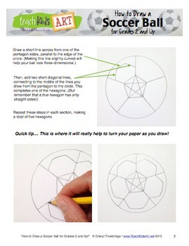 How to Draw a Soccer Ball - 2 Tutorials for Grades K and Up