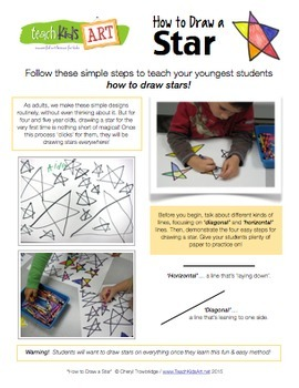 How to Draw a Star for Pre-K, Kindergarten and 1st Grade
