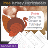 How to Draw a Turkey Thanksgiving Day Activity with Writin