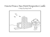 How to Draw a 2 - Point Perspective Castle - A Step-by-Step Guide