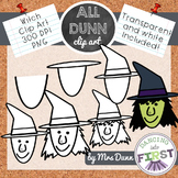 How to Draw a WITCH Halloween Clip Art- Directed Drawing