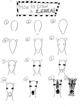 How to Draw a Zebra (Frontal View)