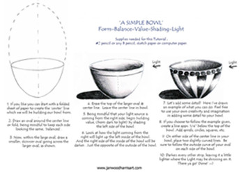 How to Draw a simple, pretty Bowl !