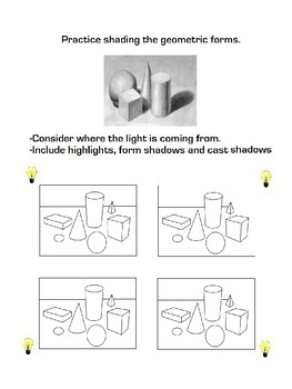 How to Draw and Shade Basic Geometric Forms