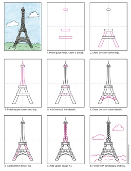 Draw the Eiffel Tower