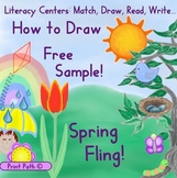 How to Draw using lines & curves: Free Sample Tulip, from