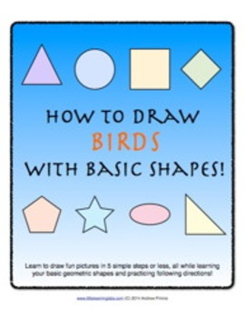 How to Draw with Basic Shapes Book - Birds