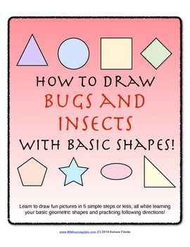 How to Draw with Basic Shapes Book - Bugs and Insects