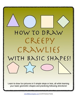 How to Draw with Basic Shapes Book - Creepy Crawlies