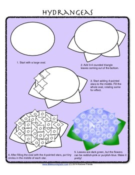 How to Draw with Basic Shapes Book - Flowers