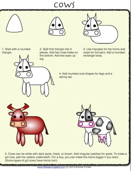 How to Draw with Basic Shapes Book - Pets and Farm Animals