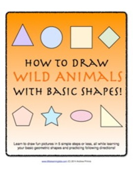 How to Draw with Basic Shapes Book - Wild Animals