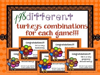 """Thanksgiving Music: How to Dress a Turkey, """"choose your path"""" games {BUNDLE}"""