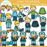 How to Dress for Snowy Winter Weather Clip Art