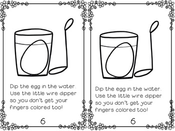 How to Dye Easter Eggs an Emergent Reader