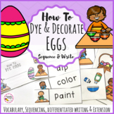 How to Dye Eggs- Easter Egg Dyeing Procedural Writing and Sequencing