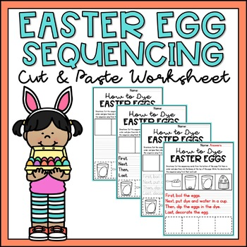 How to Dye an Easter Egg Sequencing & Writing Worksheets Differentiated