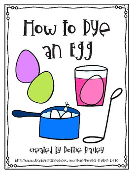 How to Dye an Egg Writing Activity