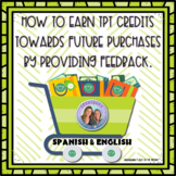 How to Earn TPT Credits by Providing Feedback on Your Purchases