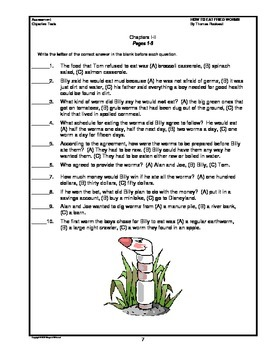 How to Eat Fried Worms Chapter Summaries and Objective Tests