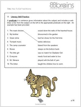 How to Eat Fried Worms Guided Reading Plans (Common Core Aligned)