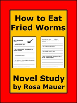 How to Eat Fried Worms Reading Comprehension Questions