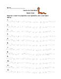 How to Eat Fried Worms Recording Sheet