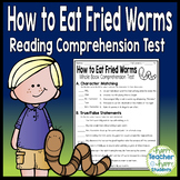 How to Eat Fried Worms Test: Final Book Quiz with Answer Key