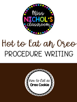 Procedure Writing - How to Eat an Oreo