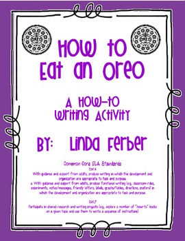 How to Eat an Oreo Writing