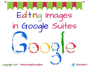 How to Edit Images in Google Suite Applications such as Google Docs or Slides