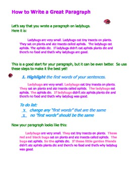 How to Edit for a Great Paragraph