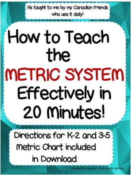 How to Effectively Teach the Metric System in 20 Minutes!