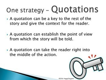 Writing Good Beginnings Using Hooks to Engage the Reader PowerPoint