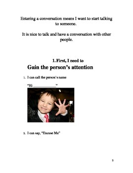 How to Enter a Conversation- A Social Story