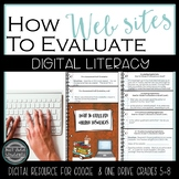 How to Evaluate Websites {Google Drive + One Drive}  Digital Literacy