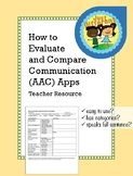 How to Evaluate and Compare Communication (AAC) Apps - Teacher Checklist