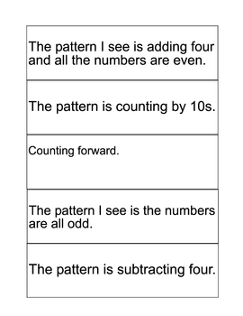 How to Explain Number Patterns