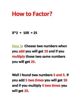 How to Facor