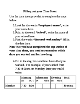 How to Fill out Paper Time Sheets
